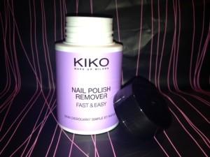 nail polish remover kiko fronte