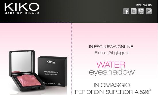 Kiko water eyeshadow omaggio make-up