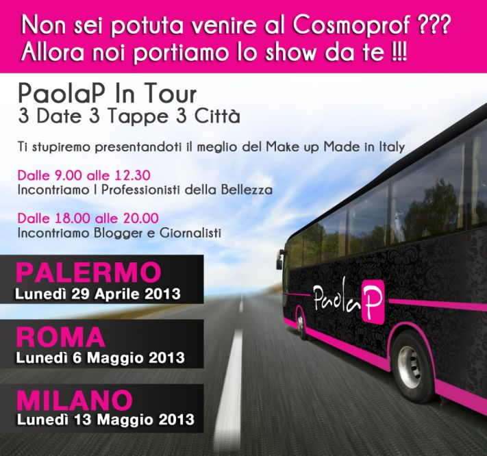 PaolaP make-up tour