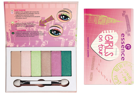essence collezione limitata girls on tour eyeshadow palette