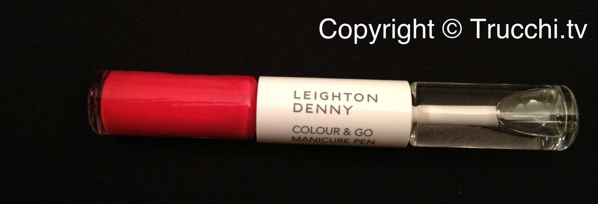 smalto Leighton Denny colour and go manicure pen I love Juicy