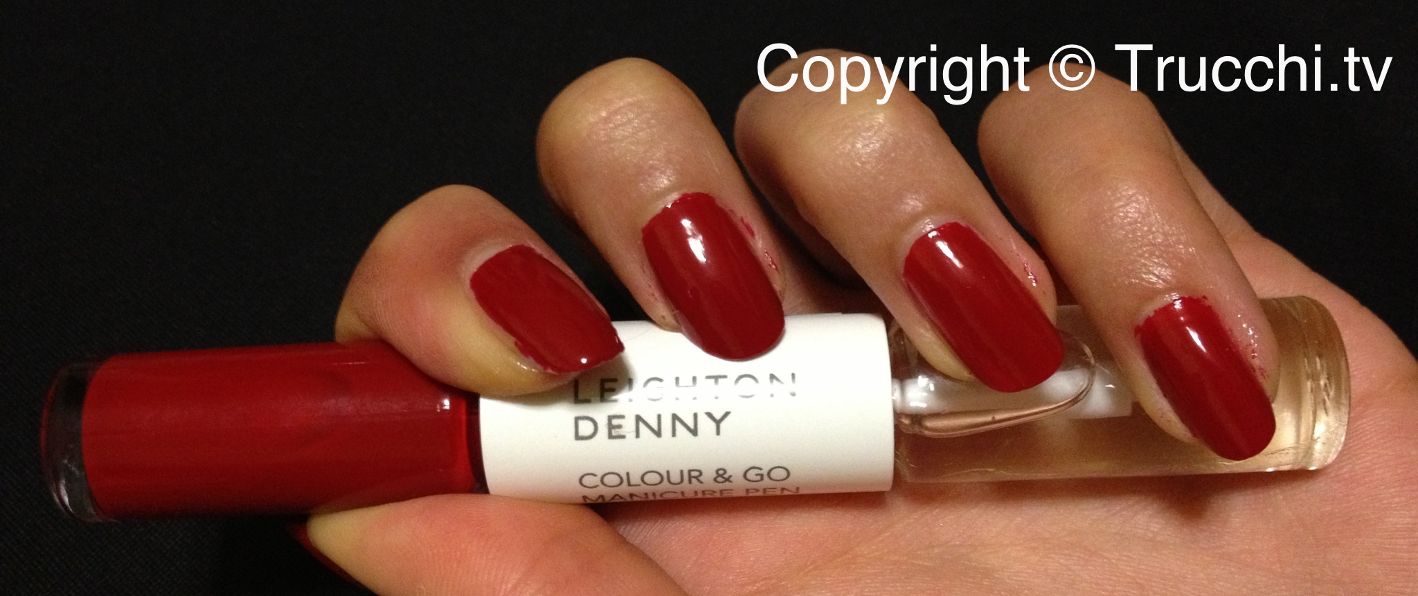 smalto Leighton Denny colour and go manicure pen Provocative 1