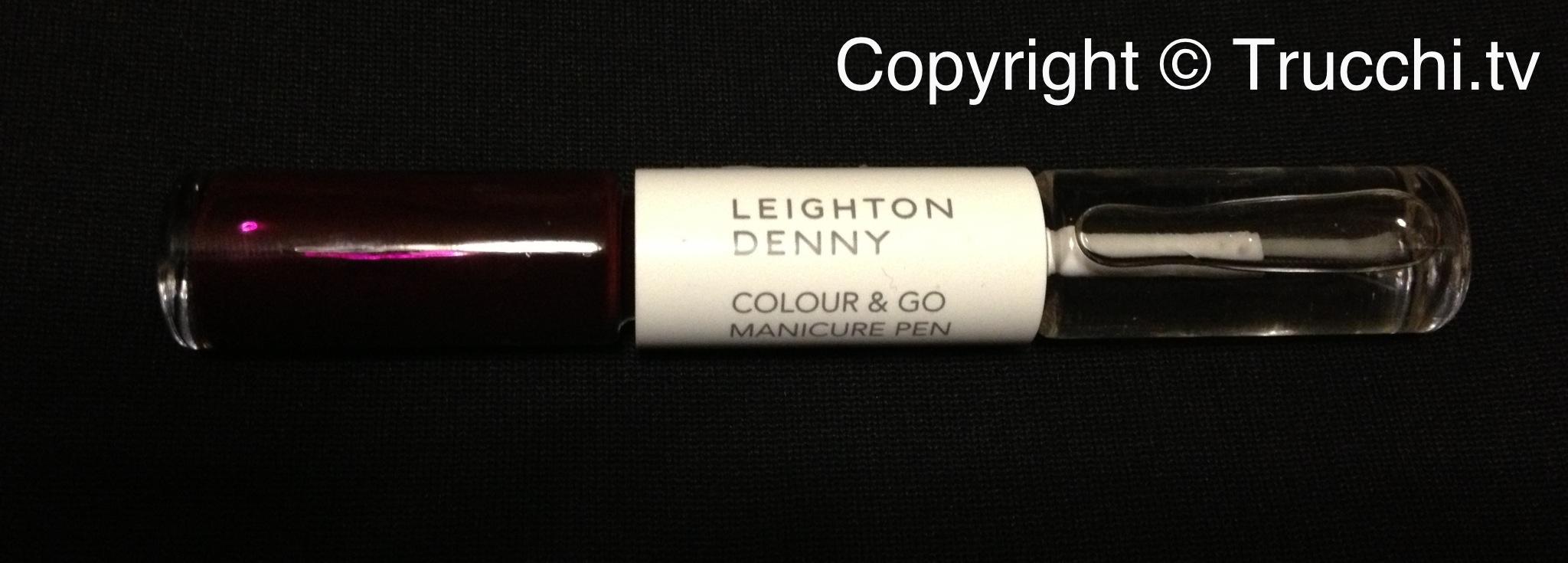 smalto Leighton Denny colour and go manicure pen Vamp