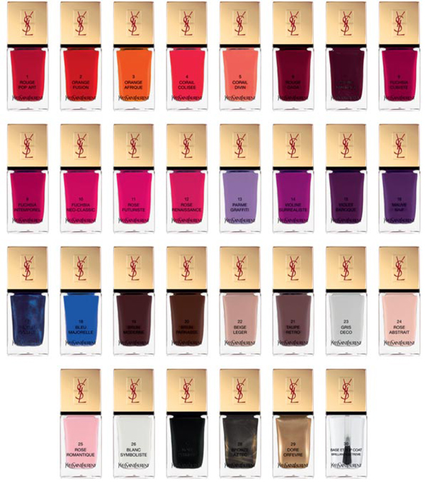 Christmas Nails YSL La Laque Couture Color Collection