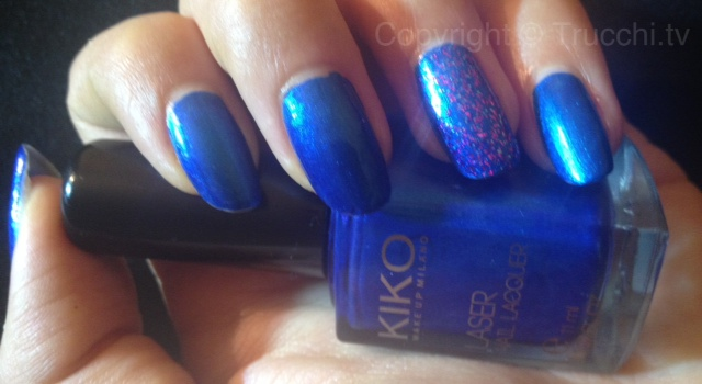smalto kiko laser nail lacquer 434 dark heroine
