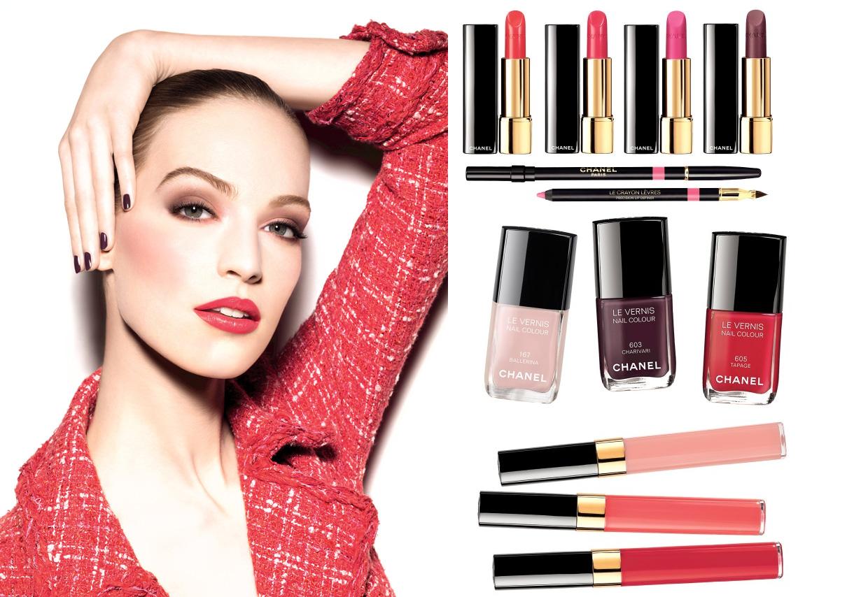 Chanel makeup primavera 2014 notes du Printemps