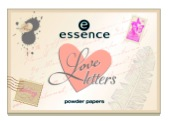 essence trend edition love letters powder papers