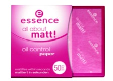 essence all about matt oil control paper