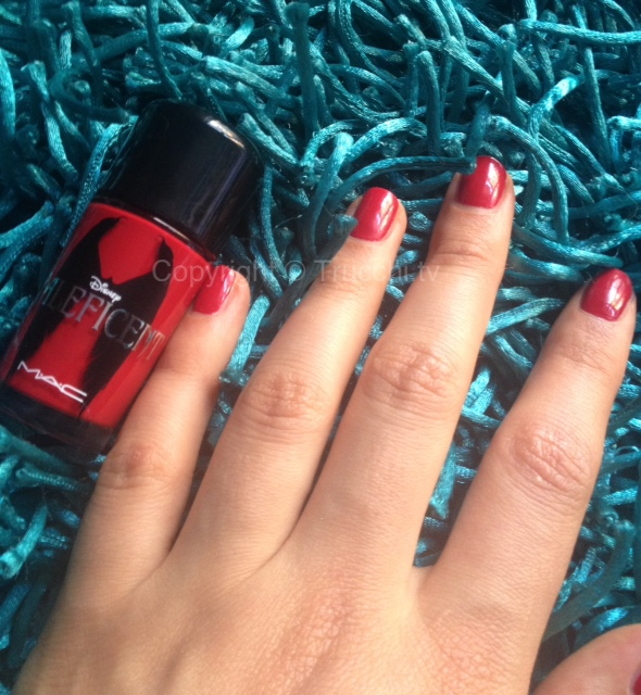 mac maleficent nail lacquer flaming rose