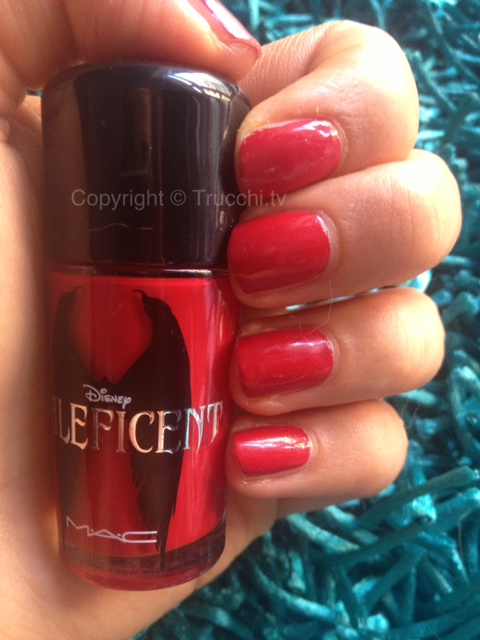mac maleficent nail lacquer flaming rose 1