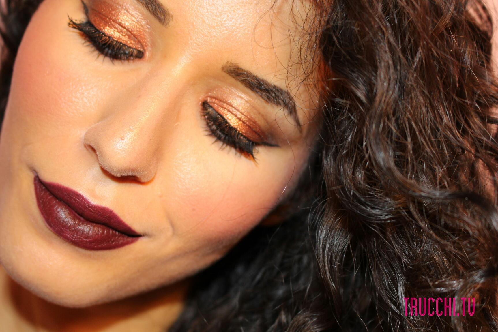 Makeup Inspiration Copper eyes dark lips