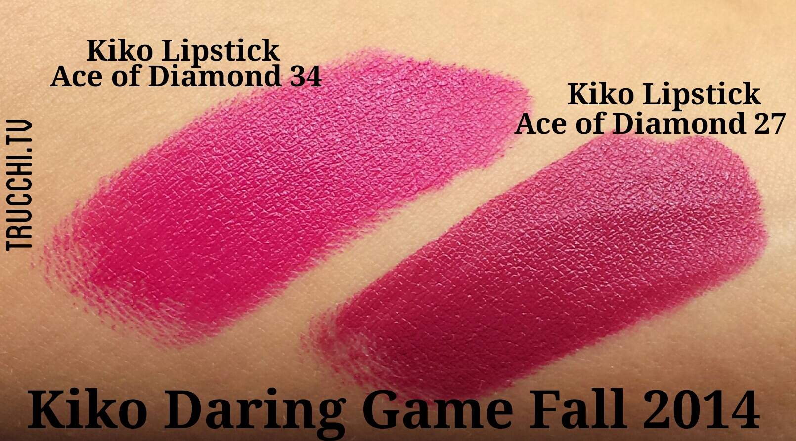 kiko daring game swatches lipsticks