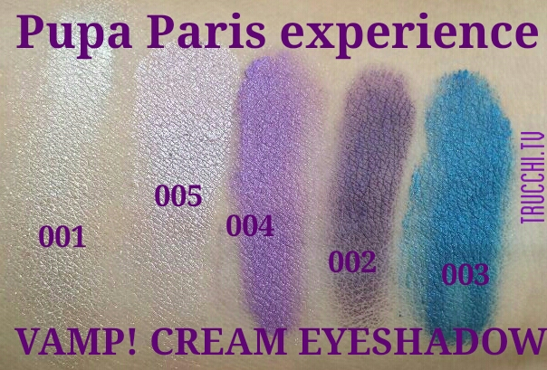 pupa paris experience swatches ombretti cremosi Vamp
