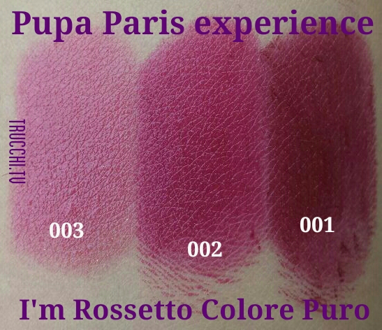 pupa paris experience swatches rossetti pupa i'm