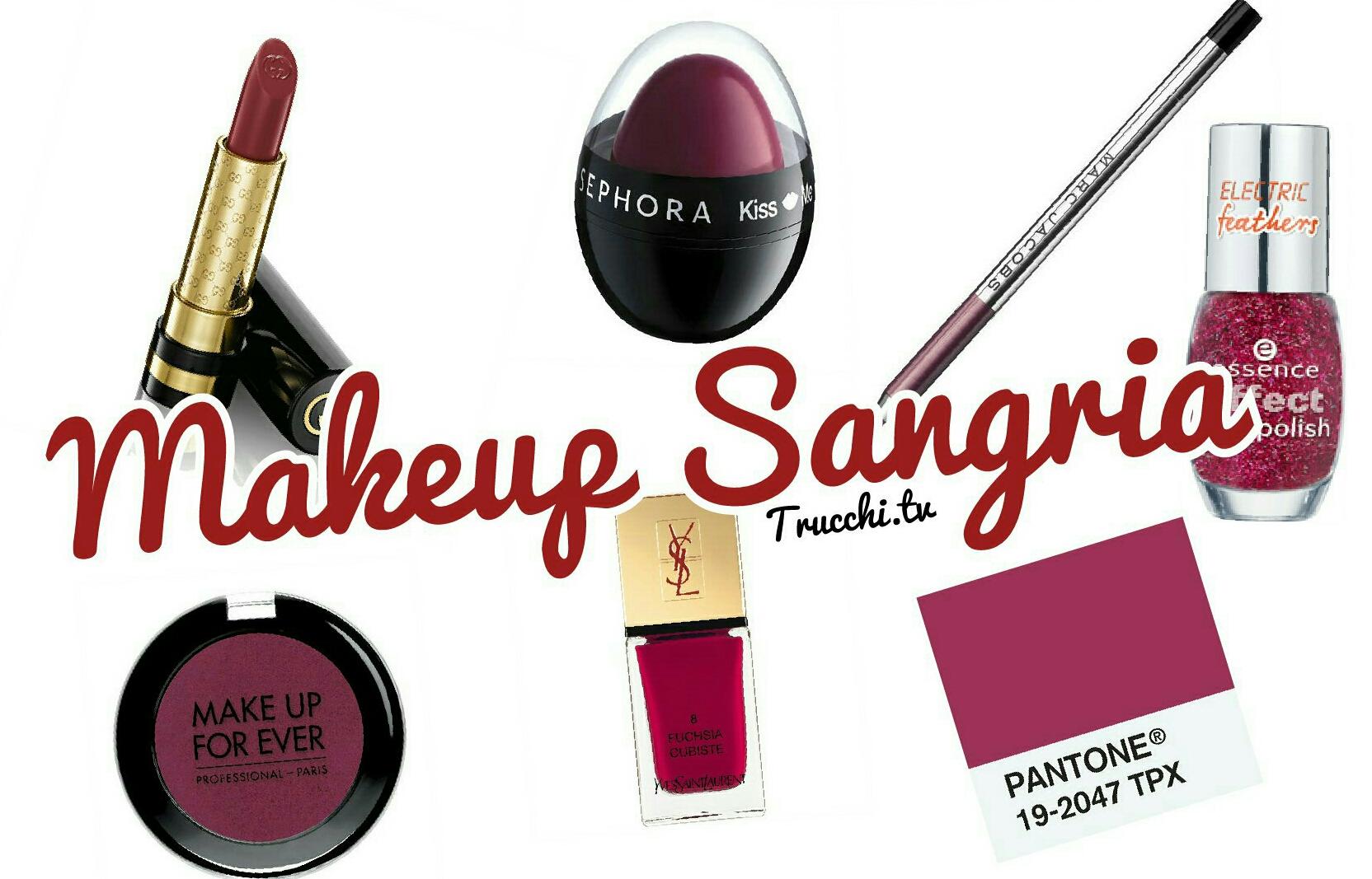 makeup sangria autunno 2014