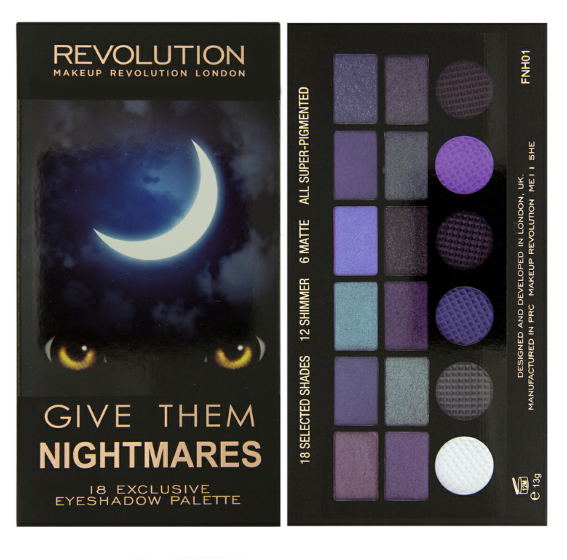 makeup revolution palette ombretti give them nightmares