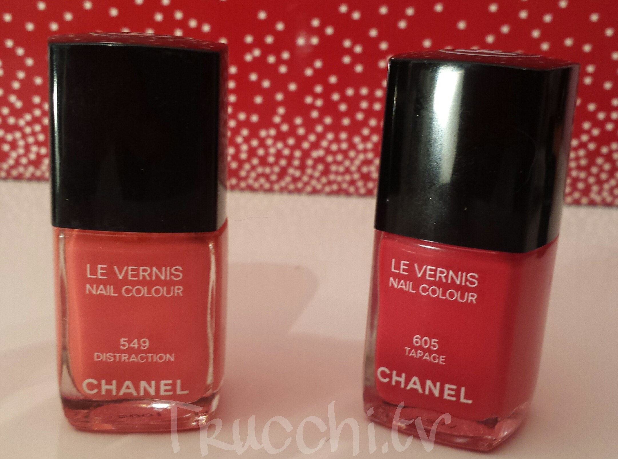 chanel tapage 605 chanel distraction 549