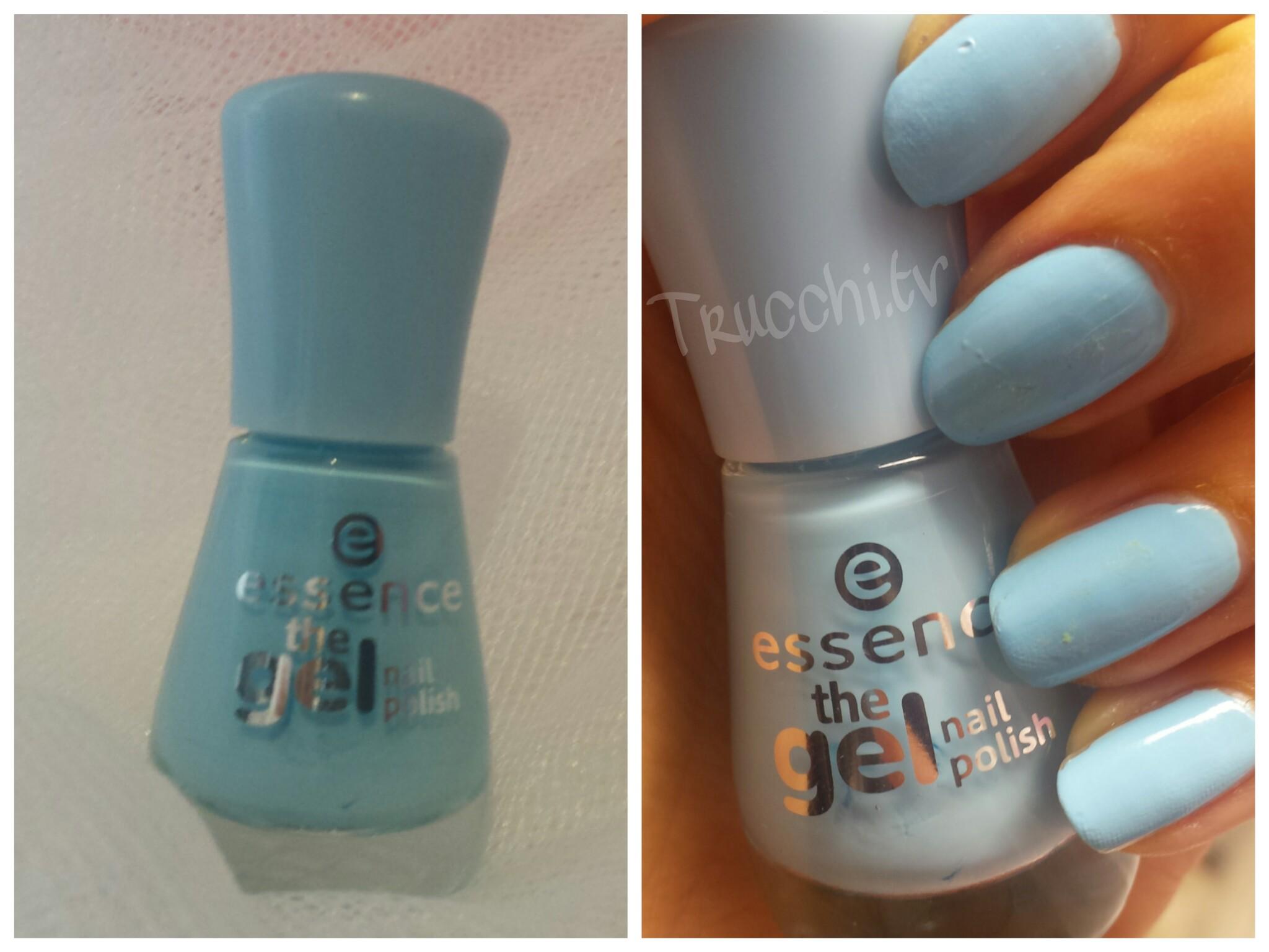 smalto essence the gel nail polish 39 blue bubble di blue