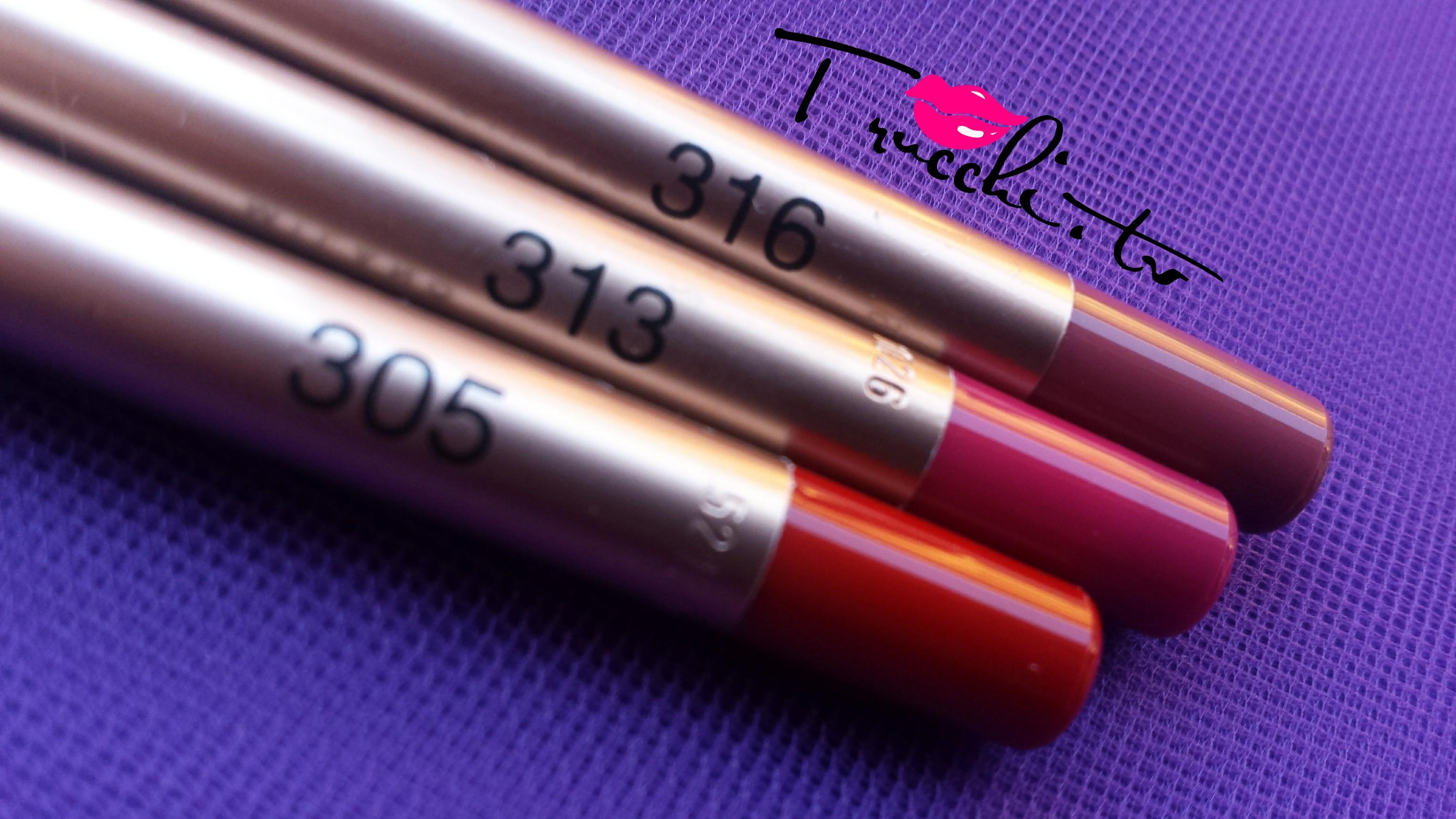 Review Matite Labbra Kiko Creamy Colour Comfort Lip Liner 305-313-316