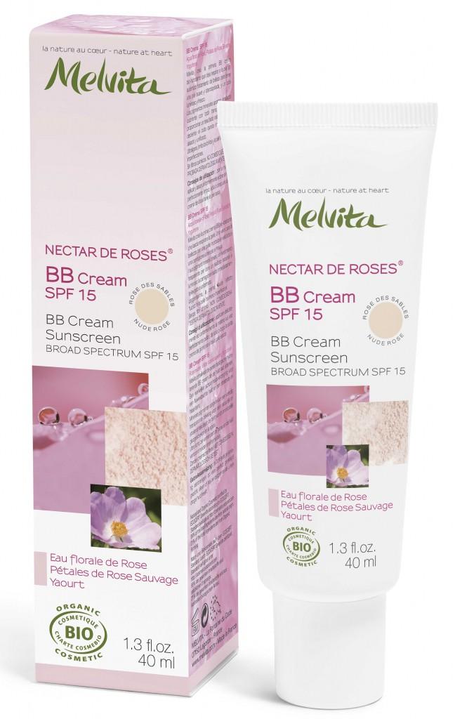 BB Cream SPF15 NECTAR DE ROSES Melvita