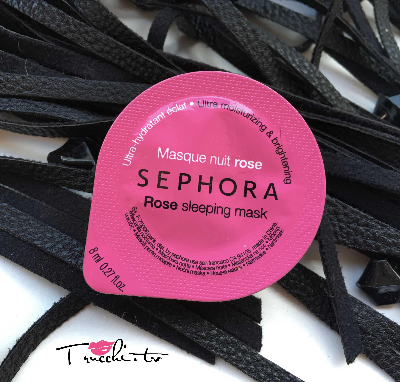 Review Maschere Viso Notte Sephora Rose Sleeping Mask