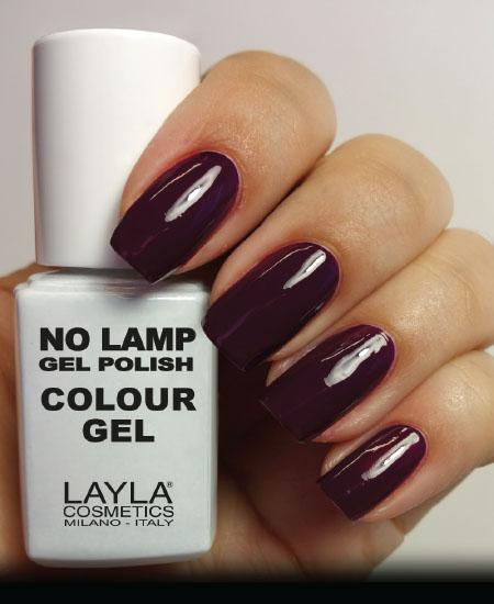 Layla No Lamp Gel Polish Dirty Purple Dance