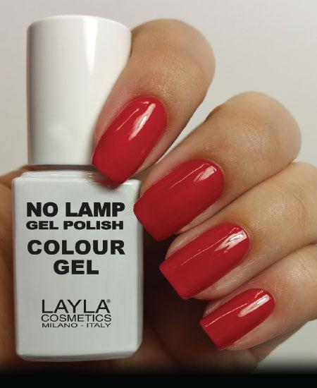 Layla No Lamp Gel Polish Dirty Red Vegas