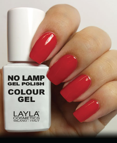 Layla No Lamp Gel Polish Dirty Live Red