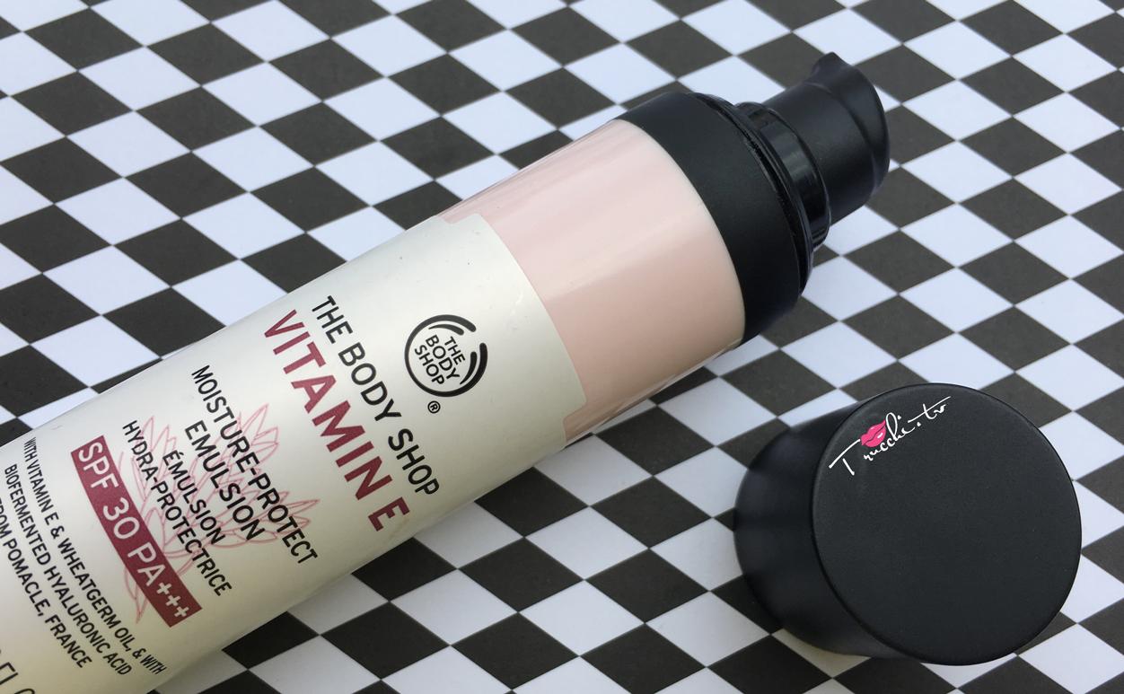 Review The Body Shop Vitamina E Emulsione Solare Protettiva
