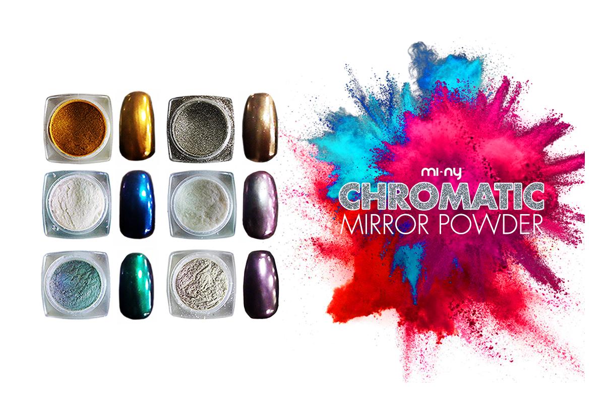 Mi ny chromatic mirror powder nuove polveri cromate per - Polvere effetto specchio unghie ...