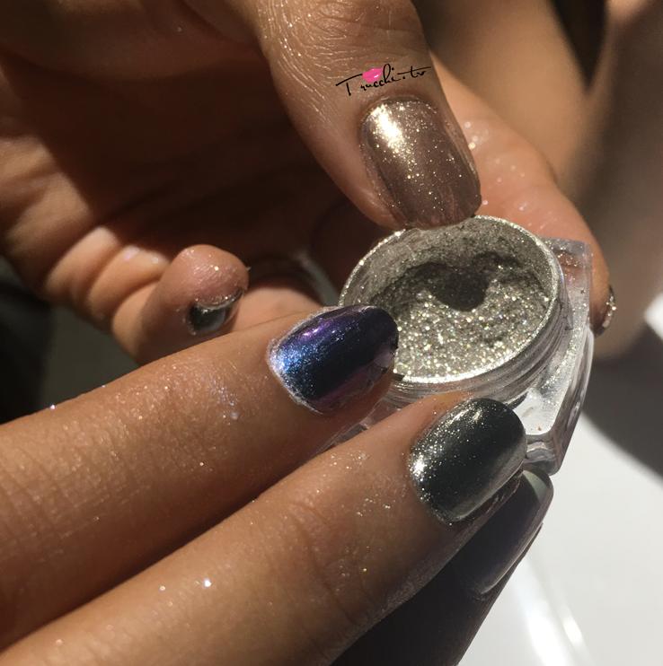Mi ny chromatic mirror powder unghie effetto specchio - Unghie argento specchio ...