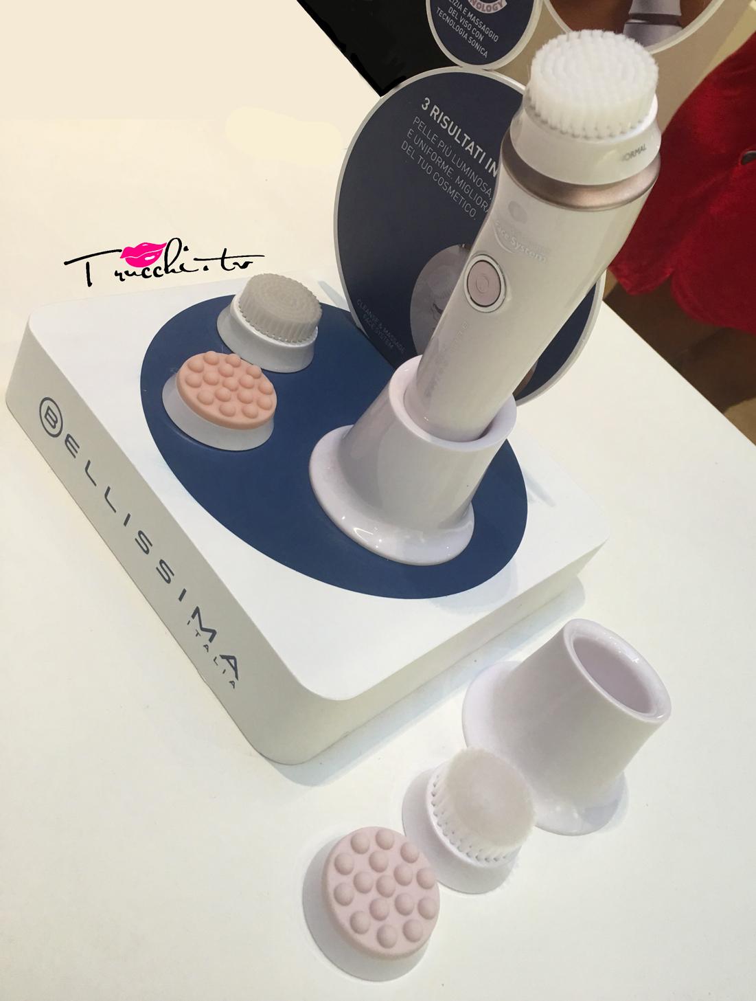 nuova spazzola per la pulizia del viso Bellissima Imetec Cleanse & Massage