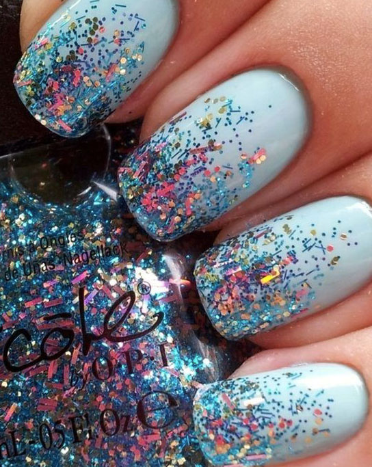 Nail Art Estate 2017 con Glitter
